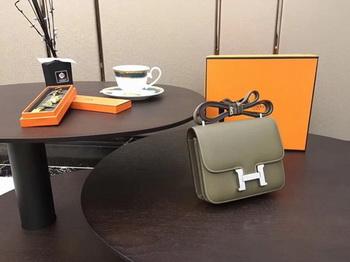 Hermes Constance Bag Original Calfskin Leather H9910 Grey