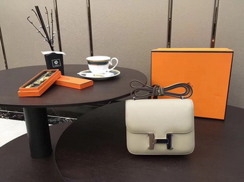 Hermes Constance Bag Original Calfskin Leather H9910 OffWhite