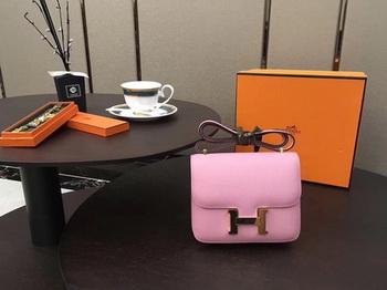 Hermes Constance Bag Original Calfskin Leather H9910 Pink