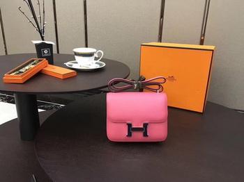 Hermes Constance Bag Original Calfskin Leather H9910 Rose