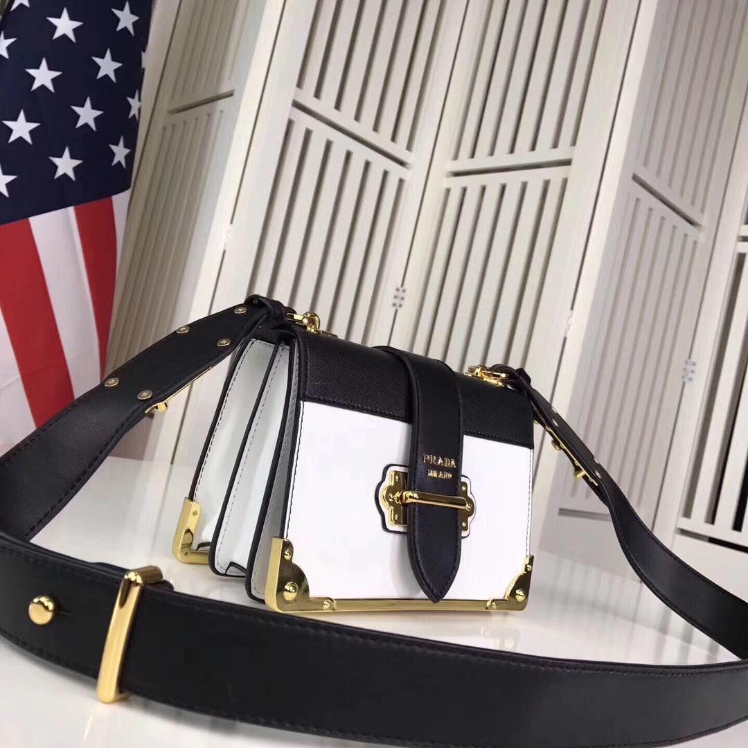 PRADA Shoulder Flap Bag Original Leather 1BD045