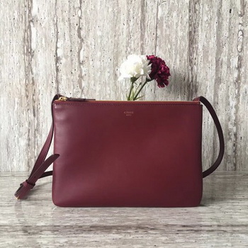 Celine Trio Crossbody Messenger Bag C55421 Wine
