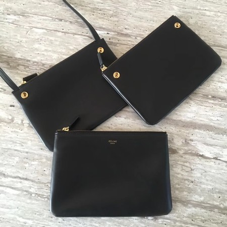 Celine mini Trio Crossbody Messenger Bag C55420 Black