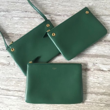 Celine mini Trio Crossbody Messenger Bag C55420 Green