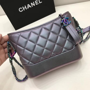 Chanel Gabrielle Shoulder Bag Original Sheepskin Leather A91810 Grey