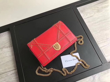 Dior Diorama Bag Original Sheepskin Leather CD3709 Red