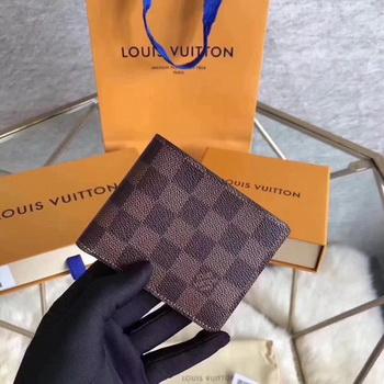 Louis Vuitton Damier Ebene Canvas MULTIPLE WALLET N60895