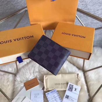 Louis Vuitton Damier Graphite Canvas MULTIPLE WALLET N62663