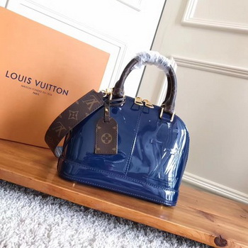Louis Vuitton Monogram Vernis ALMA BB M54704 Blue