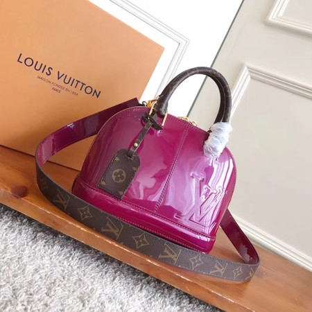 Louis Vuitton Monogram Vernis ALMA BB M54704 Rose