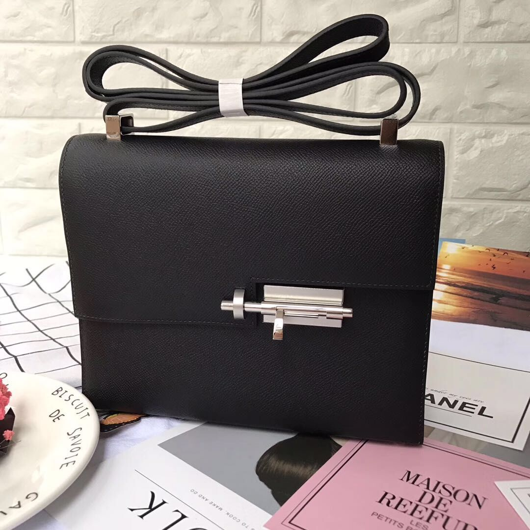 Hermes Original Leather Shoulder Bag H1088 Black