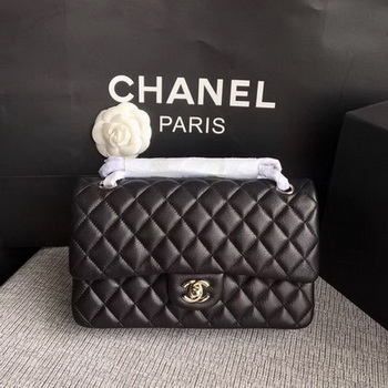 Chanel 2.55 Series Flap Bags Black Original Deerskin A1112 Silver