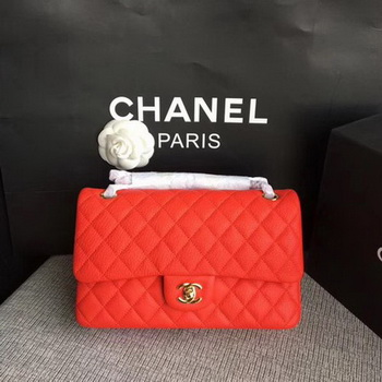 Chanel 2.55 Series Flap Bags Original Deerskin A1112 Red