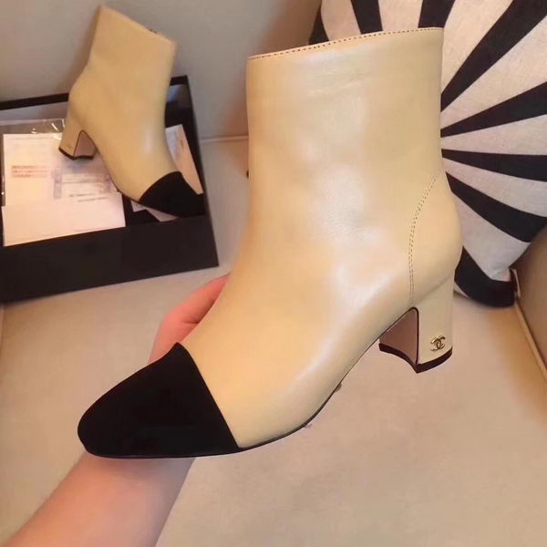 Chanel Ankle Boot Leather CH2209 Apricot