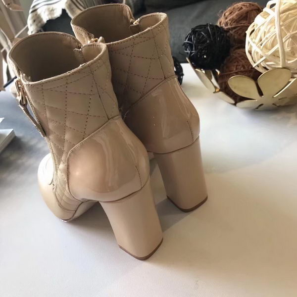 Chanel Ankle Boot Leather CH2229 Apricot