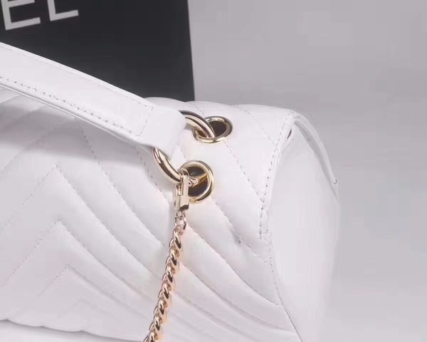 Chanel Classic Tote Bag Sheepskin Leather 36903 White