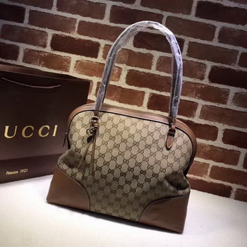 Gucci Bree Original GG Canvas Shoulder Bag 323673 Apricot