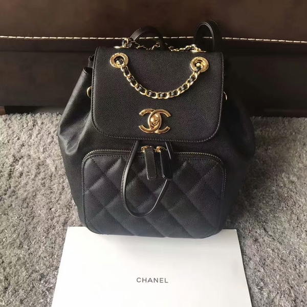 Chanel Original Calfskin Leather Backpack CHA2589 Black