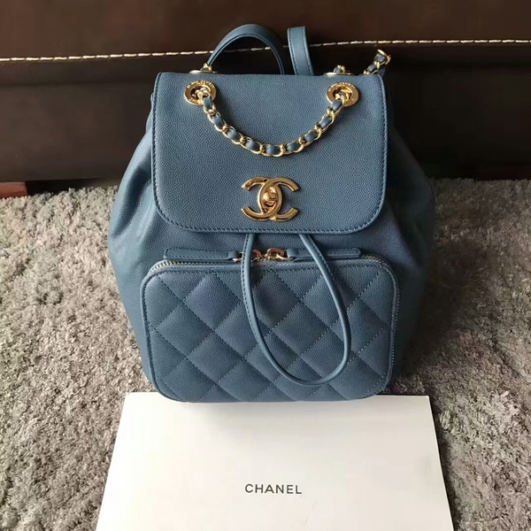 Chanel Original Calfskin Leather Backpack CHA2589 Blue