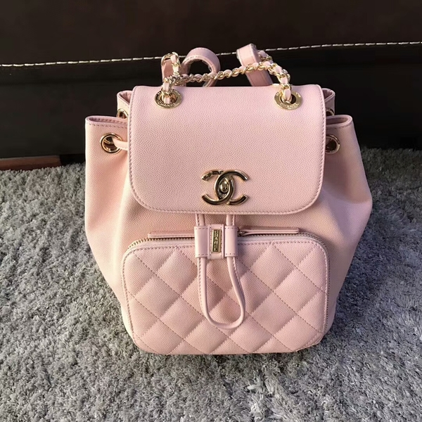 Chanel Original Calfskin Leather Backpack CHA2589 Light Pink