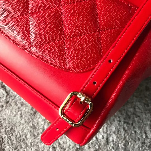 Chanel Original Calfskin Leather Backpack CHA2589 Red