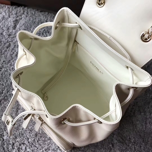Chanel Original Calfskin Leather Backpack CHA2589 White