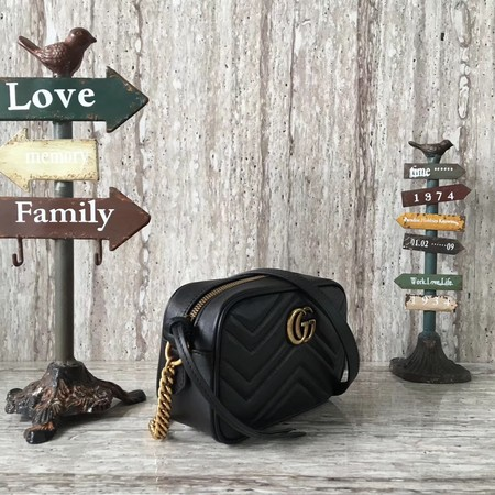 Gucci GG Marmont Matelasse mini Bag 448065 Black
