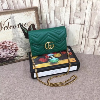Gucci GG Marmont Bag ‎474575 Green