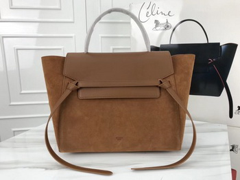 Celine Belt Bag Original Suede Leather C3349 Brown