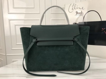 Celine Belt Bag Original Suede Leather C3349 Green
