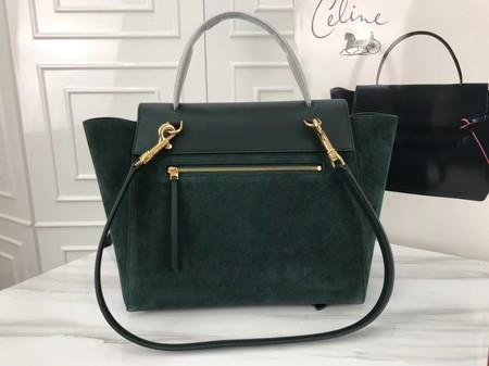 Celine Belt Bag Original Suede Leather C3349 Green