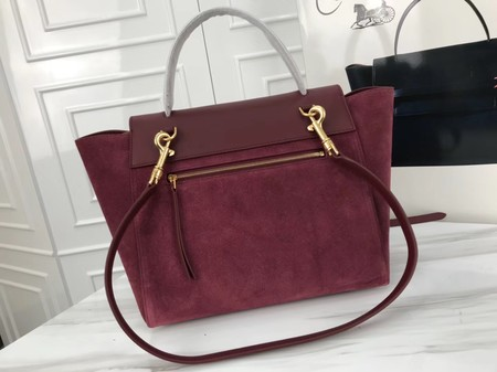 Celine Belt Bag Original Suede Leather C3349 Wine