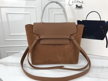 Celine Small Belt Bag Original Suede Leather A98310 Brown