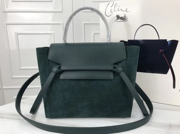 Celine Small Belt Bag Original Suede Leather A98310 Green