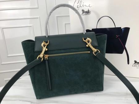 Celine Small Belt Bag Original Suede Leather A98310 Green