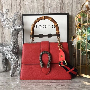 Gucci Dionysus Leather Top Handle Bag 448075 Red