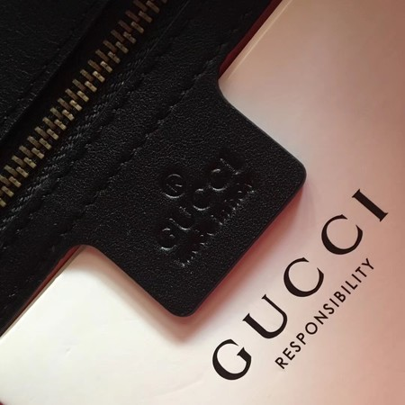 Gucci GG Marmont Chevron Velvet Shoulder Bag 443497 Black
