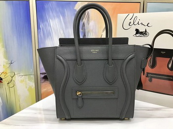 Celine Luggage Micro Tote Bag Original Leather CLY33081M Deep Grey