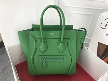 Celine Luggage Micro Tote Bag Original Leather CLY33081M Green