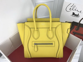Celine Luggage Micro Tote Bag Original Leather CLY33081M Lemon