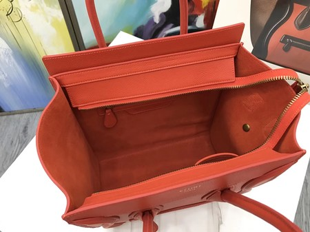 Celine Luggage Micro Tote Bag Original Leather CLY33081M Orange