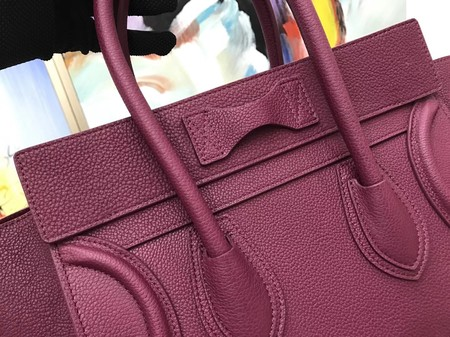 Celine Luggage Micro Tote Bag Original Leather CLY33081M Purple