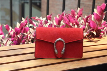 Gucci Dionysus Suede Super mini Bbag with Crystals 476432 Red
