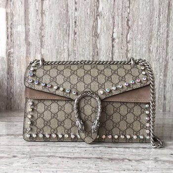 Gucci Dionysus Small GG Shoulder Bag 400249 Apricot