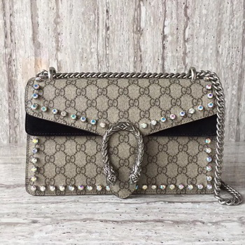 Gucci Dionysus Small GG Shoulder Bag 400249 Black