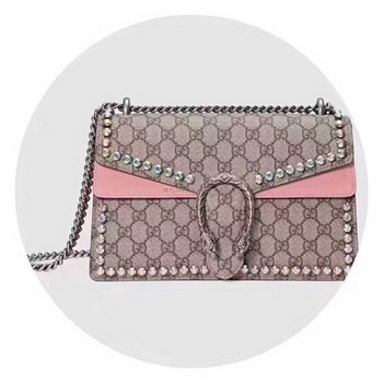 Gucci Dionysus Small GG Shoulder Bag 400249 Pink