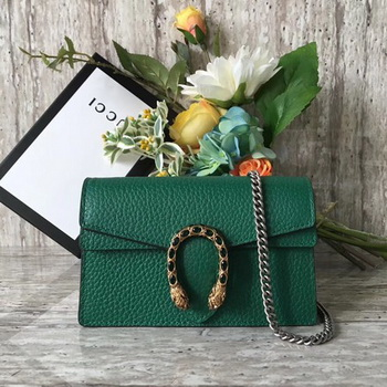 Gucci Dionysus Leather Super mini Bag 476432 Green