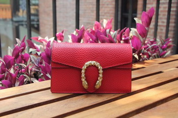 Gucci Dionysus Leather Super mini Bag 476432 Red
