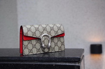 Gucci Dionysus GG Supreme Super mini Bag 476432 Red