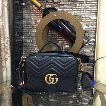 Gucci GG Marmont Small Shoulder Bag 498100 Black